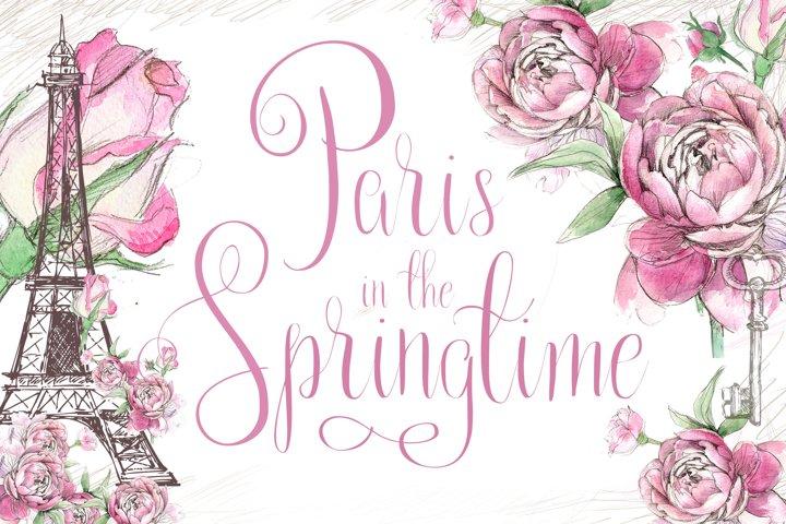 Paris in the Springtime Script Font