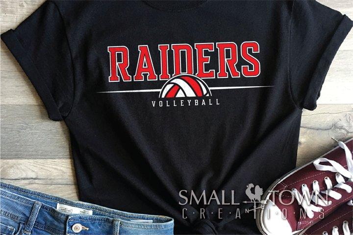 Raider, Volleyball, Sport, Team, Logo, PRINT, CUT, DESIGN