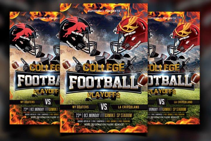 College Football Flyer