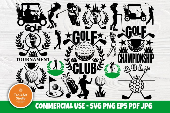 Golf SVG Bundle, Golf Logo Design, Svg Cut Files, Sports Svg