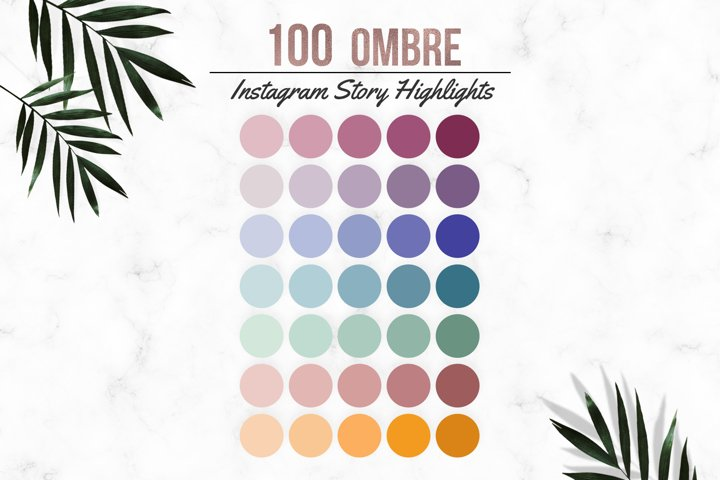 Ombre Effect Instagram Highlights