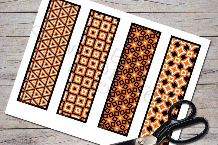 Halloween Patterns Printable Bookmark Set 2