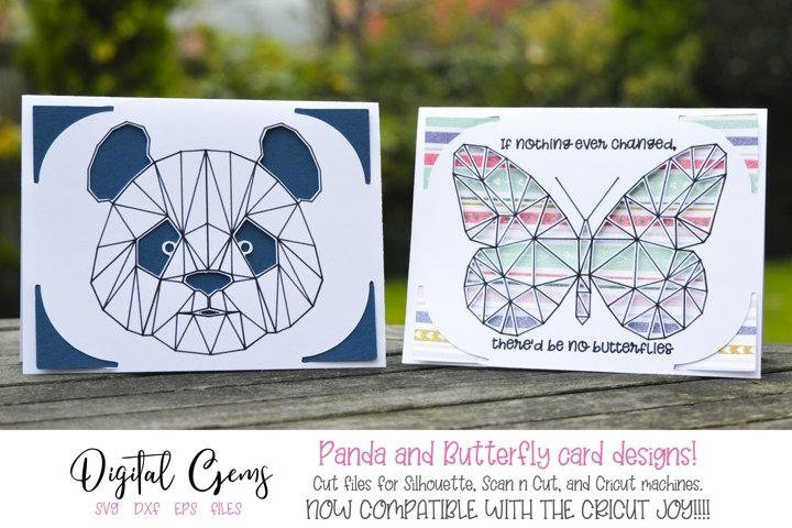 Panda and Butterfly card designs!
