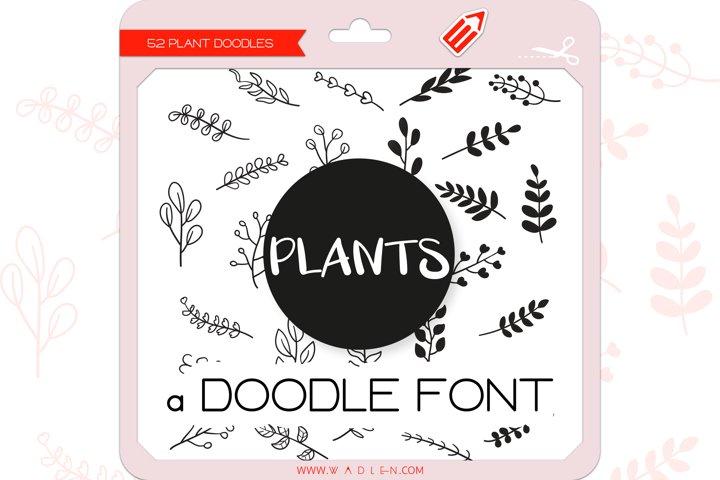 Plant Doodles - Dingbats Font