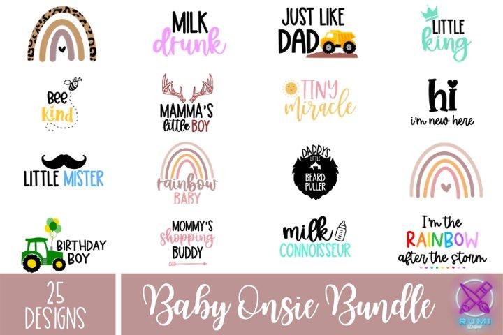 Baby Sayings Bundle, Newborn Onsie Svg Bundle, Cut Files