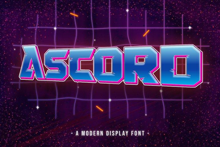 Ascord Font