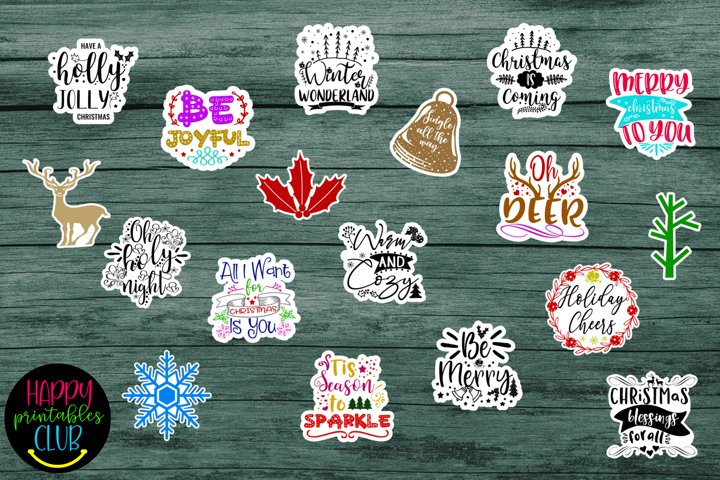 Cute Christmas Stickers- Christmas Planner Stickers
