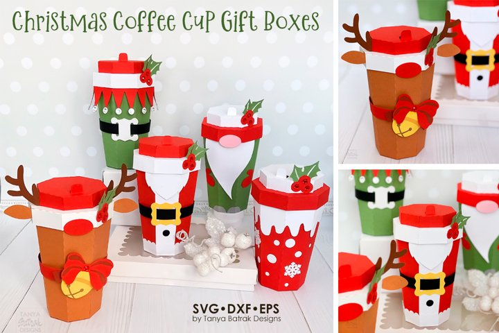 Christmas Coffee Cup Boxes