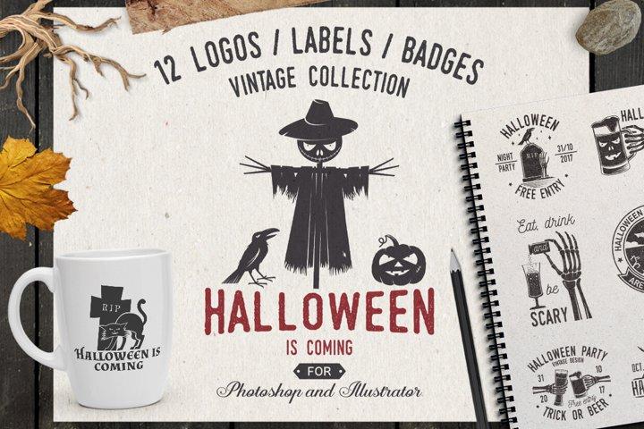 Happy Halloween Logo Template