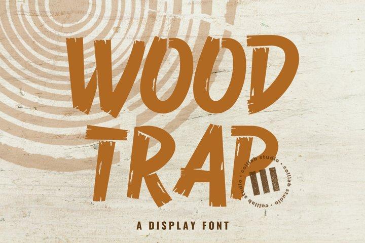 Wood Trap - A Display Font