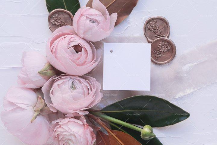 Wedding Stationery Mockup - Tag - Blush