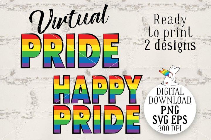 Happy Pride, Virtual Pride, Rainbow LGBT, Gay Party, LGBTQ