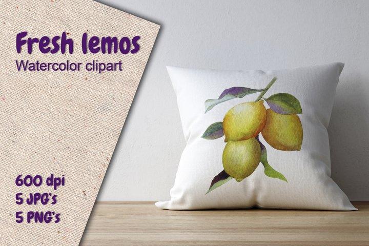 Fresh lemon clipart