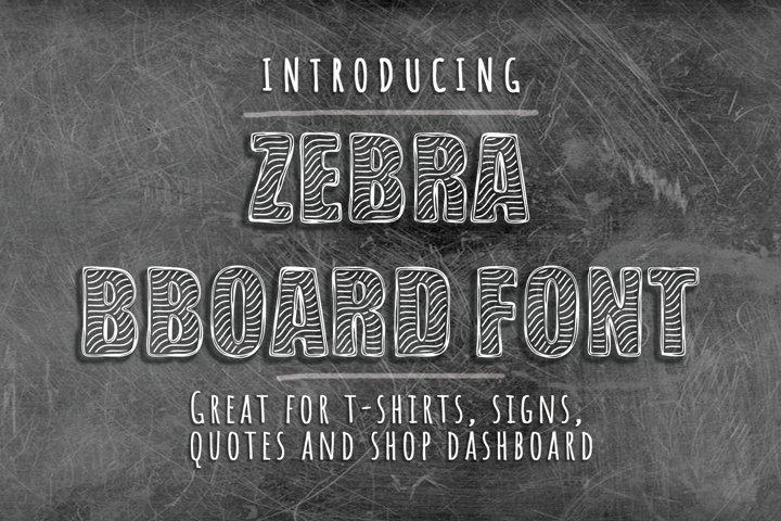 Zebra BBoard - Decorative Font