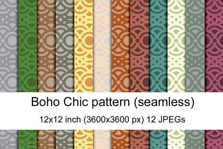 Boho chic seamless pattern