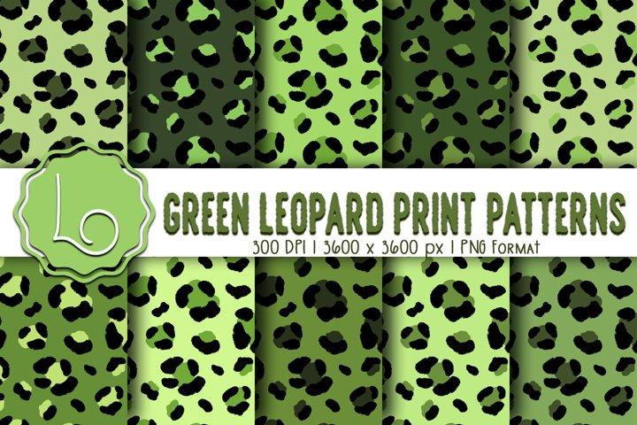Green Leopard Print Patterns