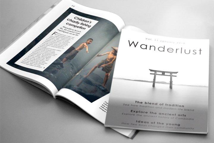 WANDERLUST Travel Magazine Template