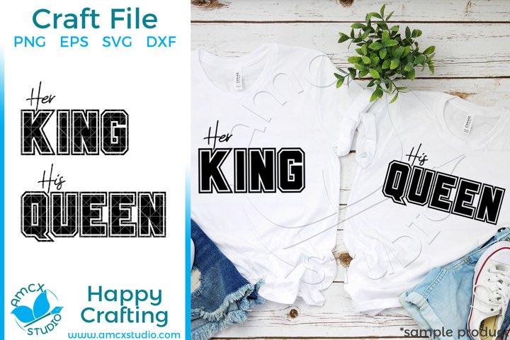 Her King, His Queen Couples SVG file example