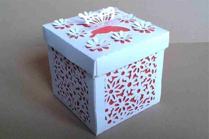 Box 14 with Cover, two sizes 2.5 inches and 3.15 inches SVG