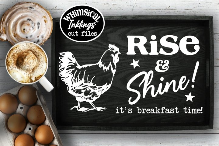Rise and Shine Tray SVG
