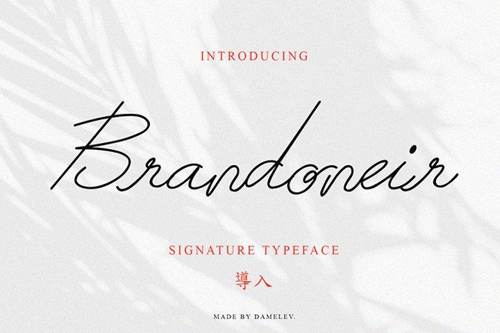 Brandoneir Signature Typeface