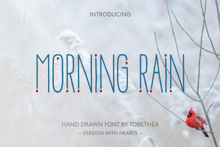 Morning Rain Font with Hearts