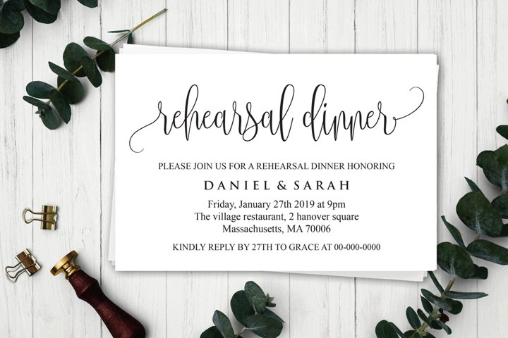 Rehearsal Dinner Invitation, Rehearsal Dinner Template