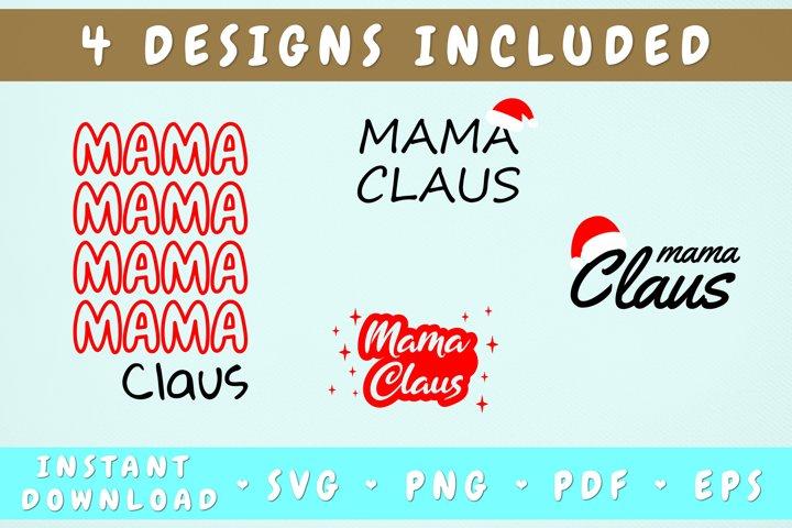 Mama Claus Svg Bundle - 4 Designs