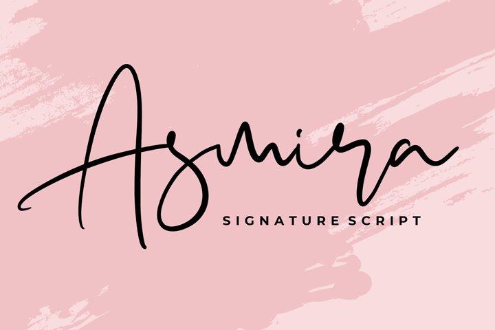 Asmira Signature Script Font
