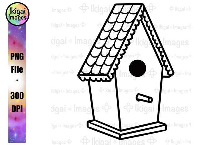 Birdhouse Clipart, Bird House Printable Coloring Pages, PNG