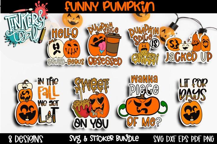 Pumpkin Sticker Bundle - Halloween Digital Stickers - SVG
