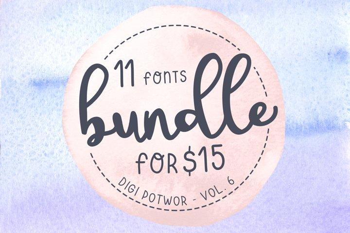 11 fonts - Bundle - vol. 6