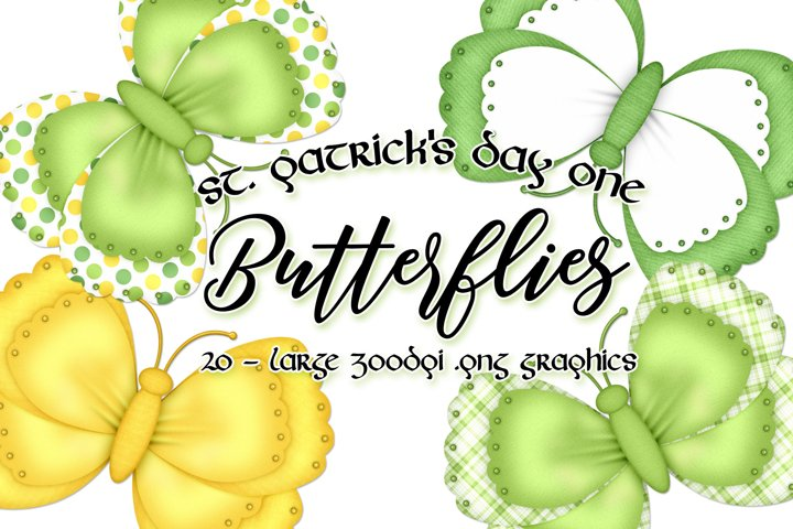 St. Patricks Day One - Butterfly Graphics