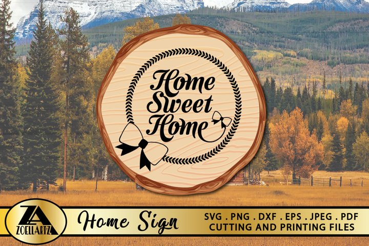 HOME SIGN SVG PNG EPS DXF Welcome Home SVG Farmhouse SVG