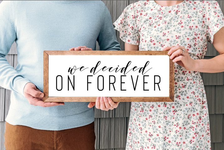 We decided on Forever, Engagement Announcement, 5 cut files