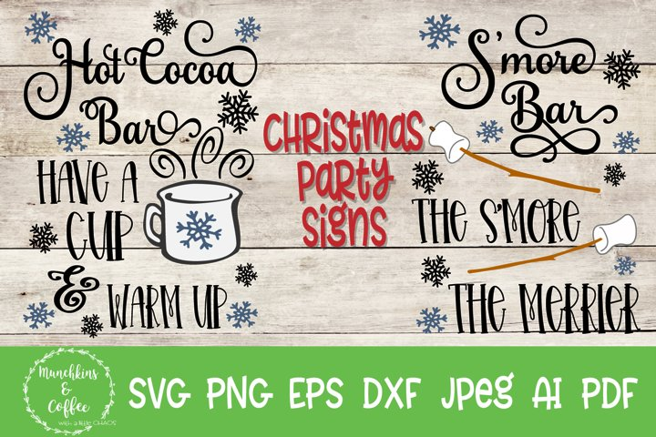 Holiday Party Signs- SVG