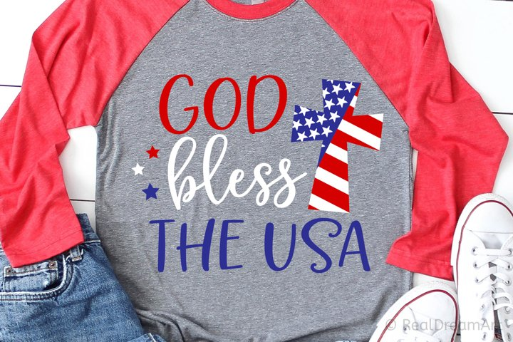 God Bless the USA SVG, DXF, PNG, EPS