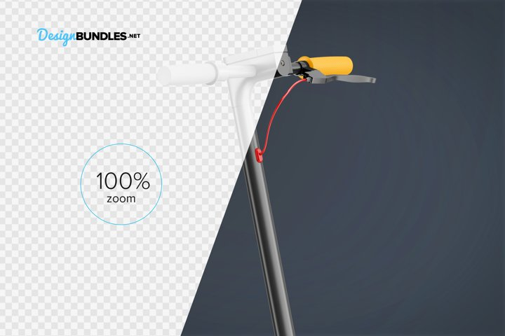 Electric Scooter Mockup example 4