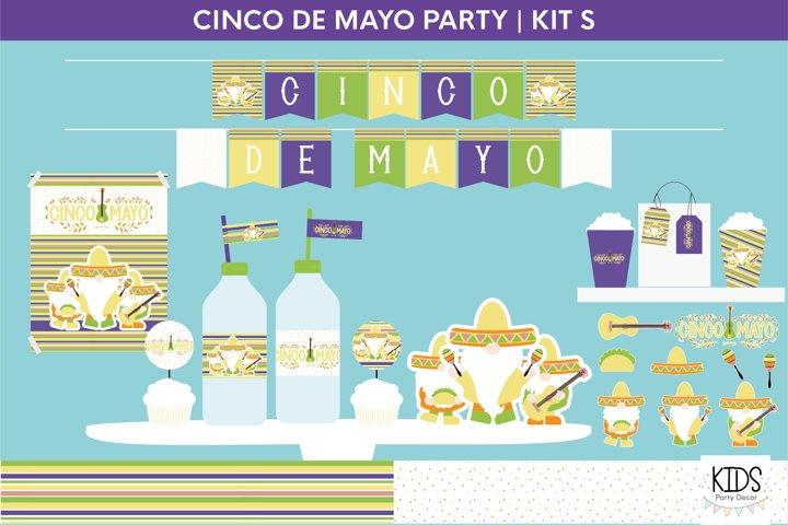 Cinco de Mayo party decorations.   Gnomes printable party