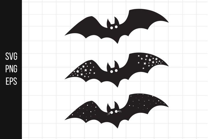Halloween Bats SVG, cute baby svg, nursery illustration