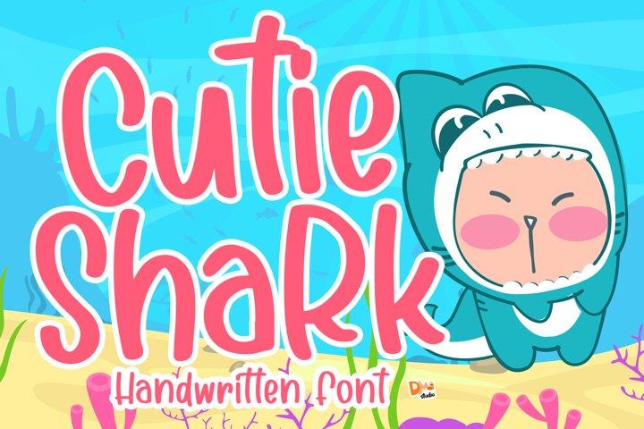 Cutie Shark - Handwritten Font