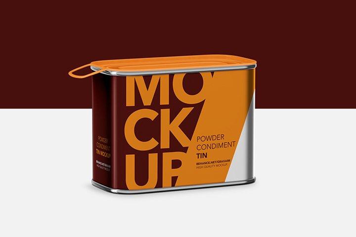 Tin Mockup - Glossy Cover