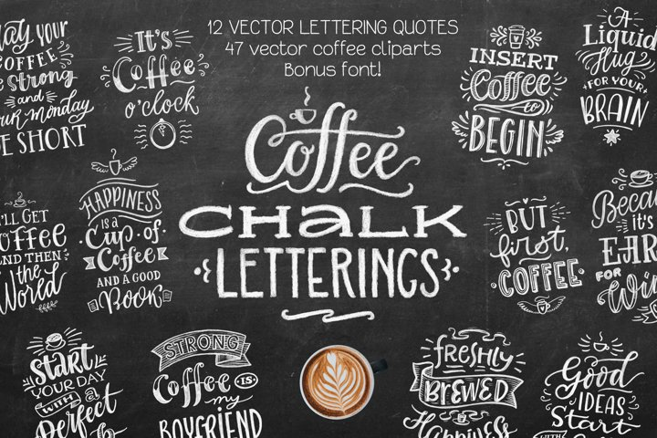 Coffee Chalk Letterings