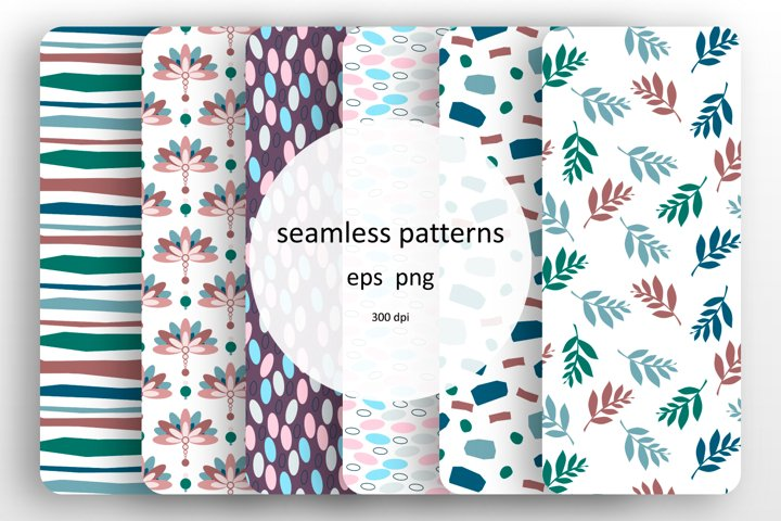 Set of 6 seamless patterns