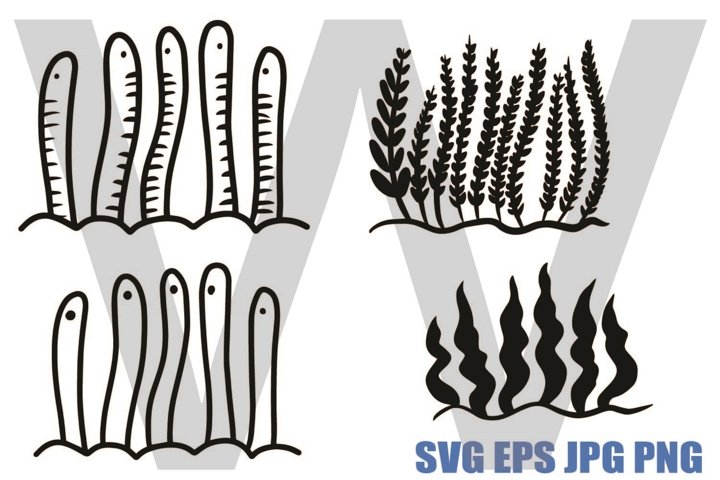 Coral and worms- SVG PNG JPG