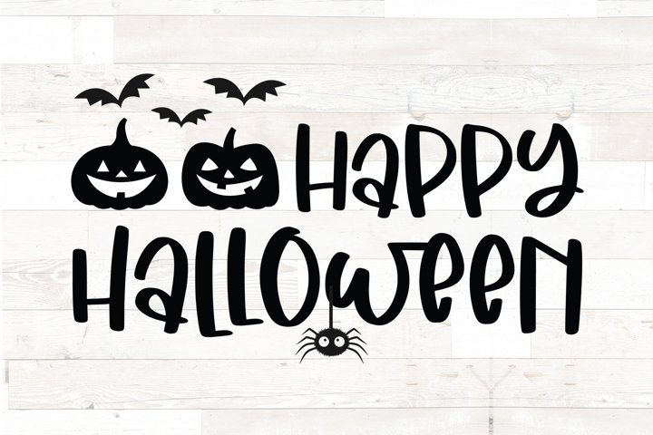 Happy Halloween - Halloween sign decal