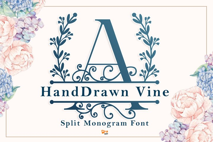 Monogram Handdrawn Vine