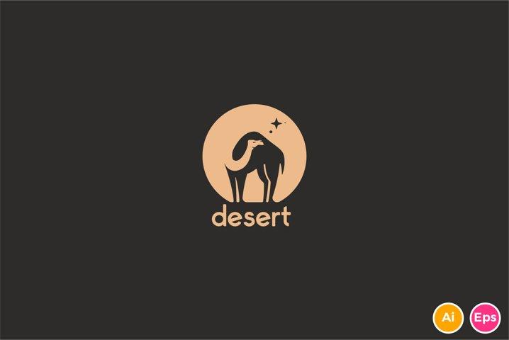 Desert Camel Logo Template