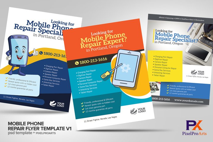 Mobile Phone Repair Flyer Template V1