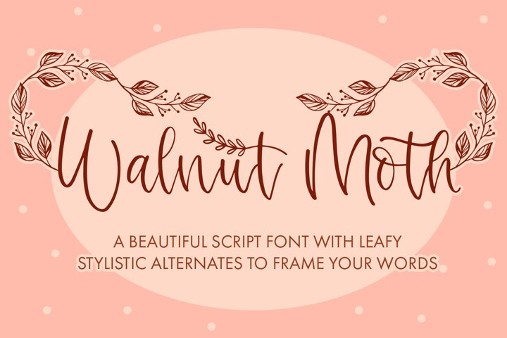 Walnut Moth - Match With Leaf Swashes - Free Font Of The Week Font
